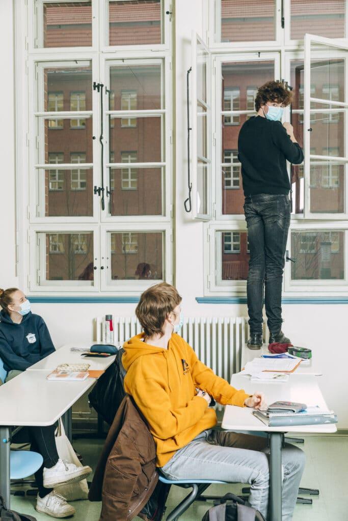 Schüler im Mendelson-Bartholdy-Gymnasium
